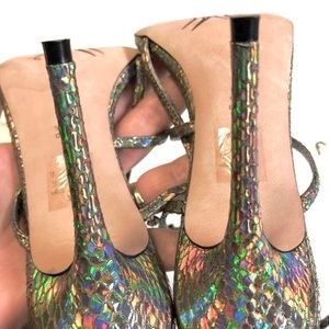 Jean-Michel Cazabat Shoes - Jean Michel Cazabat Sz 9 Holographic Leather Shoes